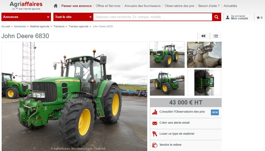 Petite annonce Agriaffaires