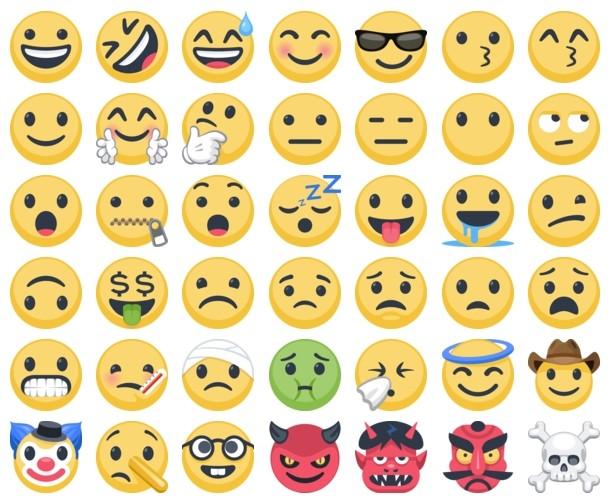 Nouveaux emojis Facebook 2017