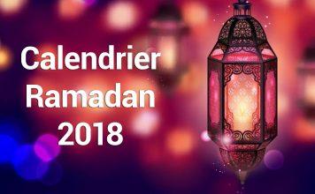 Calendrier Ramadan 2018