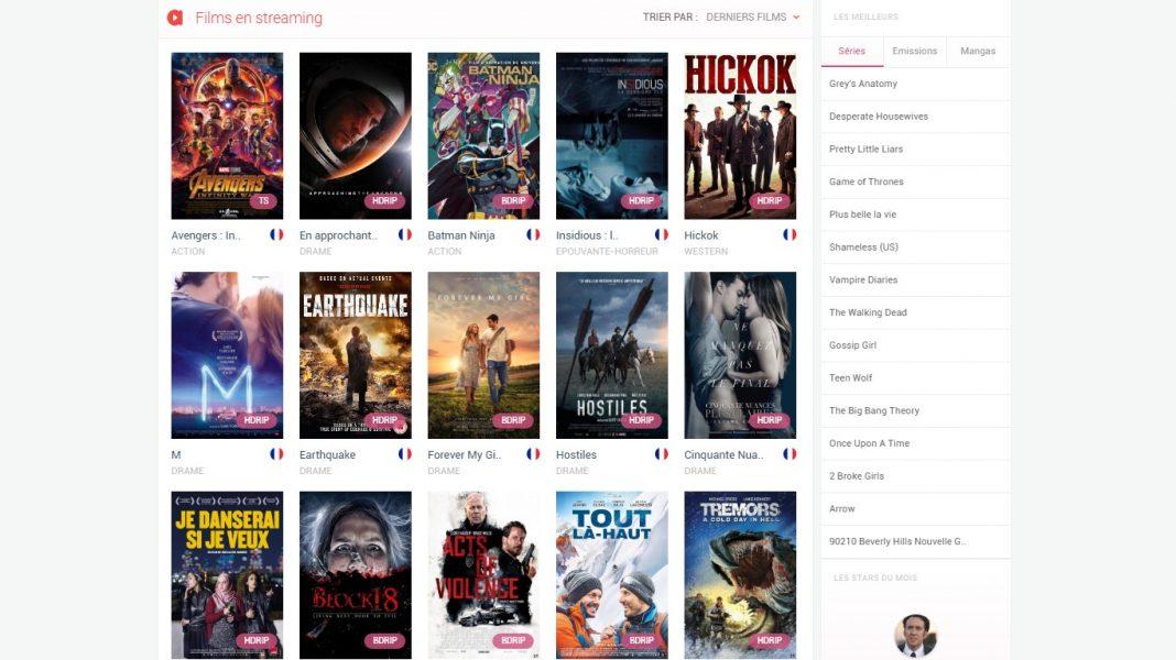 Site de streaming gratuit film et serie TV