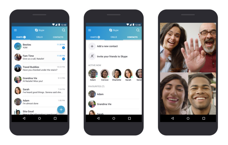 Skype sur smartphone Android